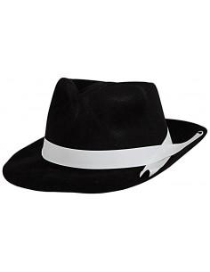 Μαύρο Καπέλο Καβουράκι με Λευκή Κορδέλα Ενηλίκων