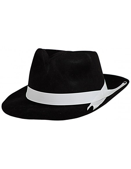 Black Hat with White Braid