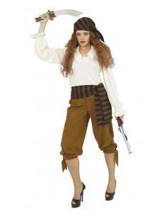 Γυναικεία πειρατική στολή καφέ