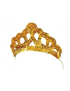 Gold Sequins Tiara
