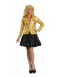 Χρυσό Γυναικείο Σακάκι με Παγιέτες
