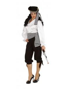 Άσπρη γυναικεία πειρατική μπλούζα