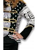 Patch Woman Jacket B/W