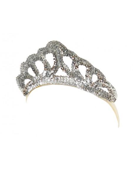 Silver Sequins Tiara