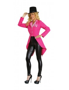 Long Pink Woman Jacket